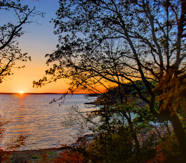Grapevine Lake Sunset HDR - #8088