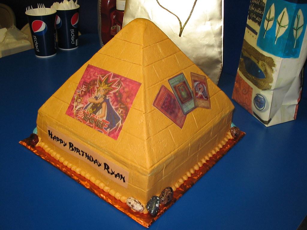 Yugioh pyramid cake for Ryan | 5/17/09 bottom 10
