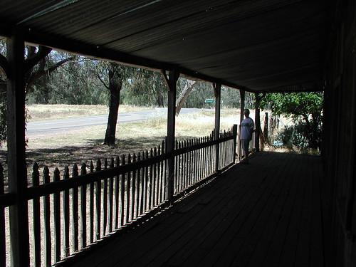 Verandah on old ruined house in Bimbi, SW of Grenfell, NSW. | by spelio