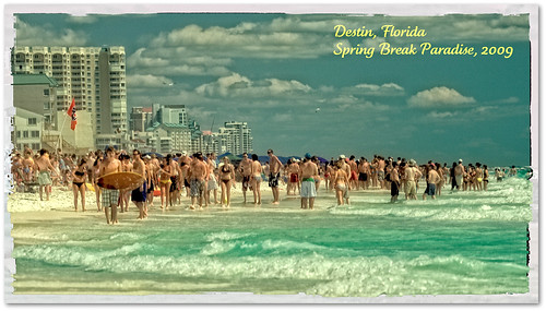 vacation florida springbreak destin 2009 sunbathers catchycolorsgreen polaroideffect niksoftware nikonnikkor70200mmf28vr colorefexpro30