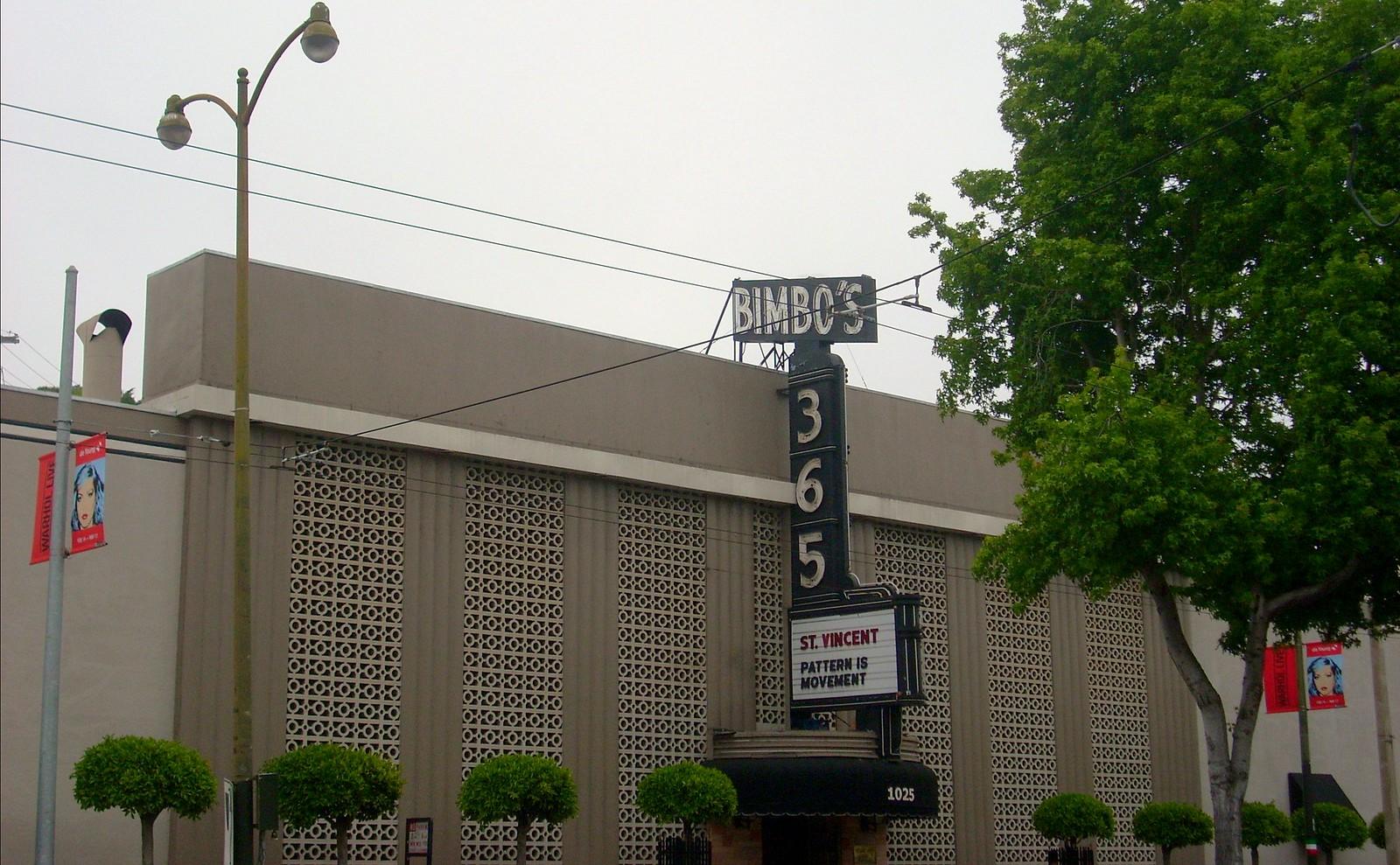 Bimbo's 365 Club, San Francisco, Ca.