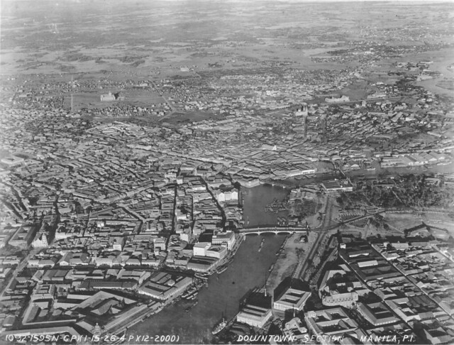 Aerial photo of Manila, Philippines Jan. 15, 1926, 4 PM