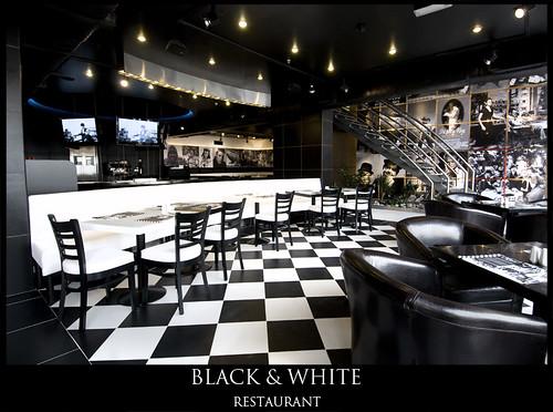 Black Amp White Restaurant تم تصوير مطعم بلاك اند وايت انا