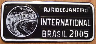 BRASIL, RIO DE JANEIRO, COPACABANA 2005 ---SOUVENIR LICENSE PLATE, small size 12 X 5 in.