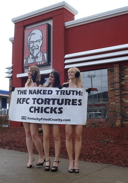 The Naked Truth: KFC Tortures Chicks - a photo on Flickriver
