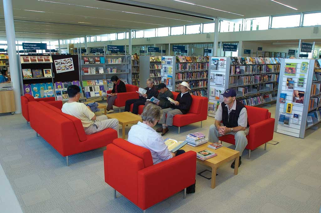 Upper Riccarton Library reading area