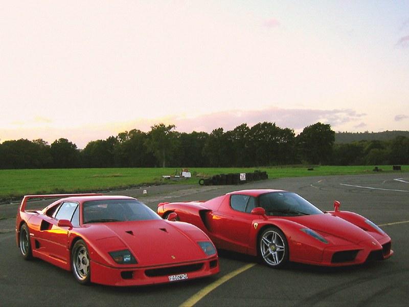 Ferrari F40 And Ferrari Enzo Vincent Dubois Flickr