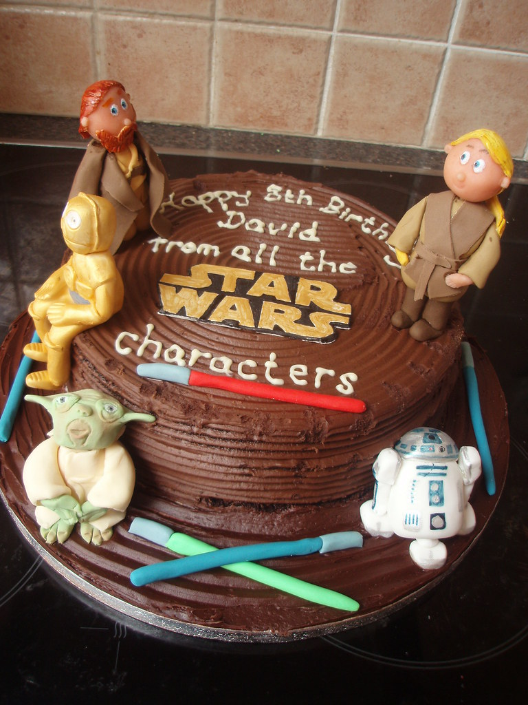 Super Star Wars Birthday Cake A Photo On Flickriver Funny Birthday Cards Online Fluifree Goldxyz