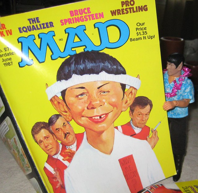 Spockcation 2009:  Spock reading Mad Magazine 2