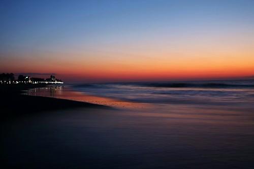 ocean longexposure beach dawn maryland oceancity