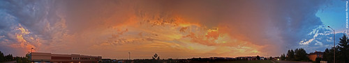 morning summer sky autostitch panorama reflection clouds sunrise view july panoramic kansas 2009 olathe beforesunrise johnsoncounty kansascitymetro kcmetro adobephotoshopelements7