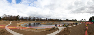 Dickson wetlands planting day panorama   by Mister Tim