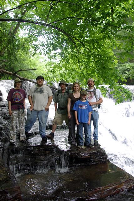 Upper Cumberland Grotto Trip, Window Cliffs Falls, Putnam Co, TN
