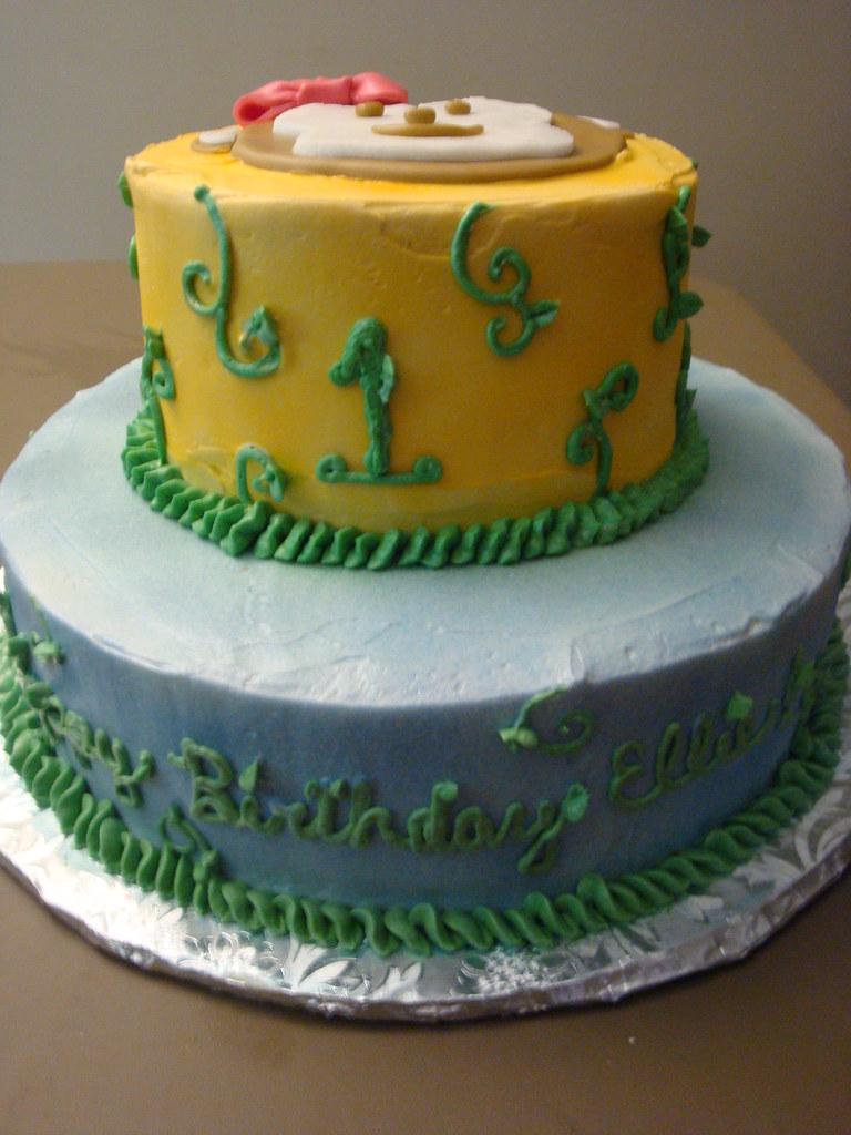 Enjoyable Monkey First Birthday Cake Chocolate And Vanilla Cakes Wit Flickr Personalised Birthday Cards Veneteletsinfo