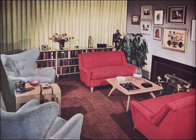 1950s Living Room - Heywood Wakefield | Modern Home Planned ...