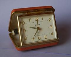 Brown orange vintage alarm clock from Germany 1980s | by spacejam2003