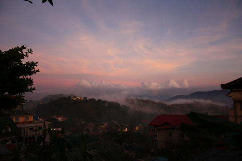 sunset vacation fog canon eos tramonto philippines hill foggy baguio nebbia vacanza vacanze quezon collina holyday filippine 450d