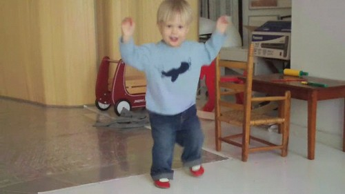 Ollie doing G.O.B.'s chicken dance