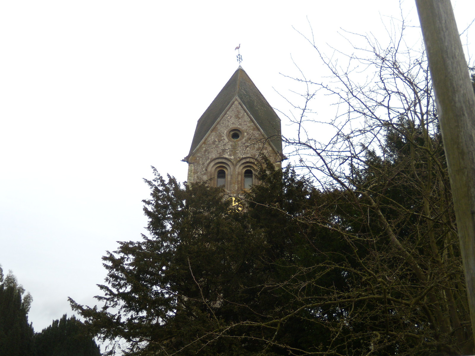 Sad eyed church Hawkley Petersfield to Liss