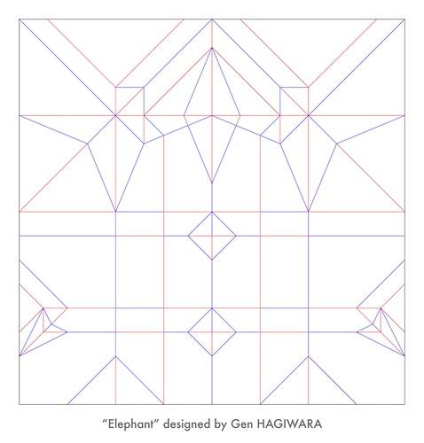 ゾウ 展開図 / Elephant crease pattern | by Gen Hagiwara