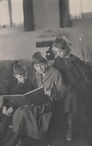 Mary Boyer, First School Teacher, Reading to Students, 1917 | by UA Archives | Upper Arlington History