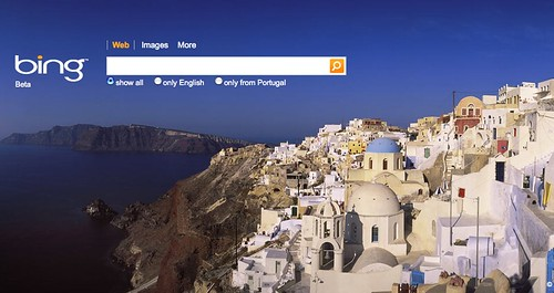 Bing first page (Portugal)
