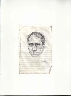 Zavier Ellis 'Mad Genius #3', 2006 Pencil on paper 14.8x10.7cm