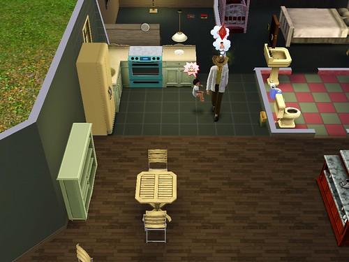 Sims 3 Bug: Floating Baby | by Ben Hamilton (Ben Gertzfield)