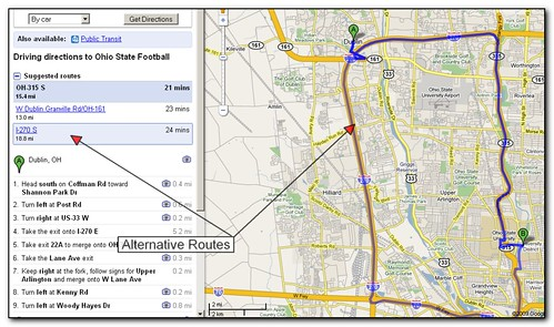 Obtaining Alternative Routes With Google Maps Screenshot Flickr - Maps-r-us-driving-directions