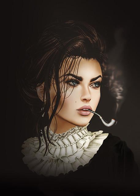 The Pipe Smoking Lady -sml