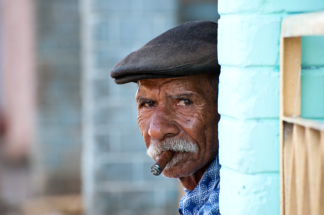 The cigar smoker of Viñales, Cuba