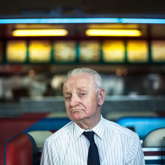 A stranger , Yvon 89 year old