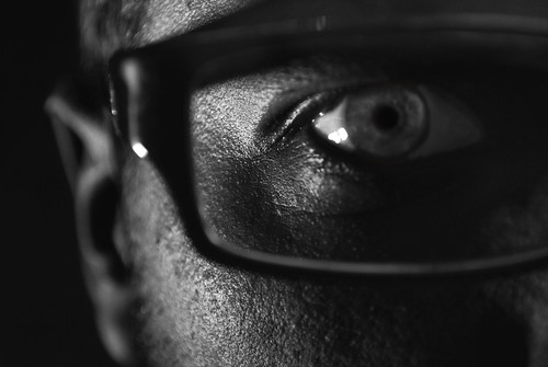 cameraphone portrait selfportrait black detail eye me self glasses key ray skin low buddy holly 365 ban rims iphone d60 365days nikond60 365project