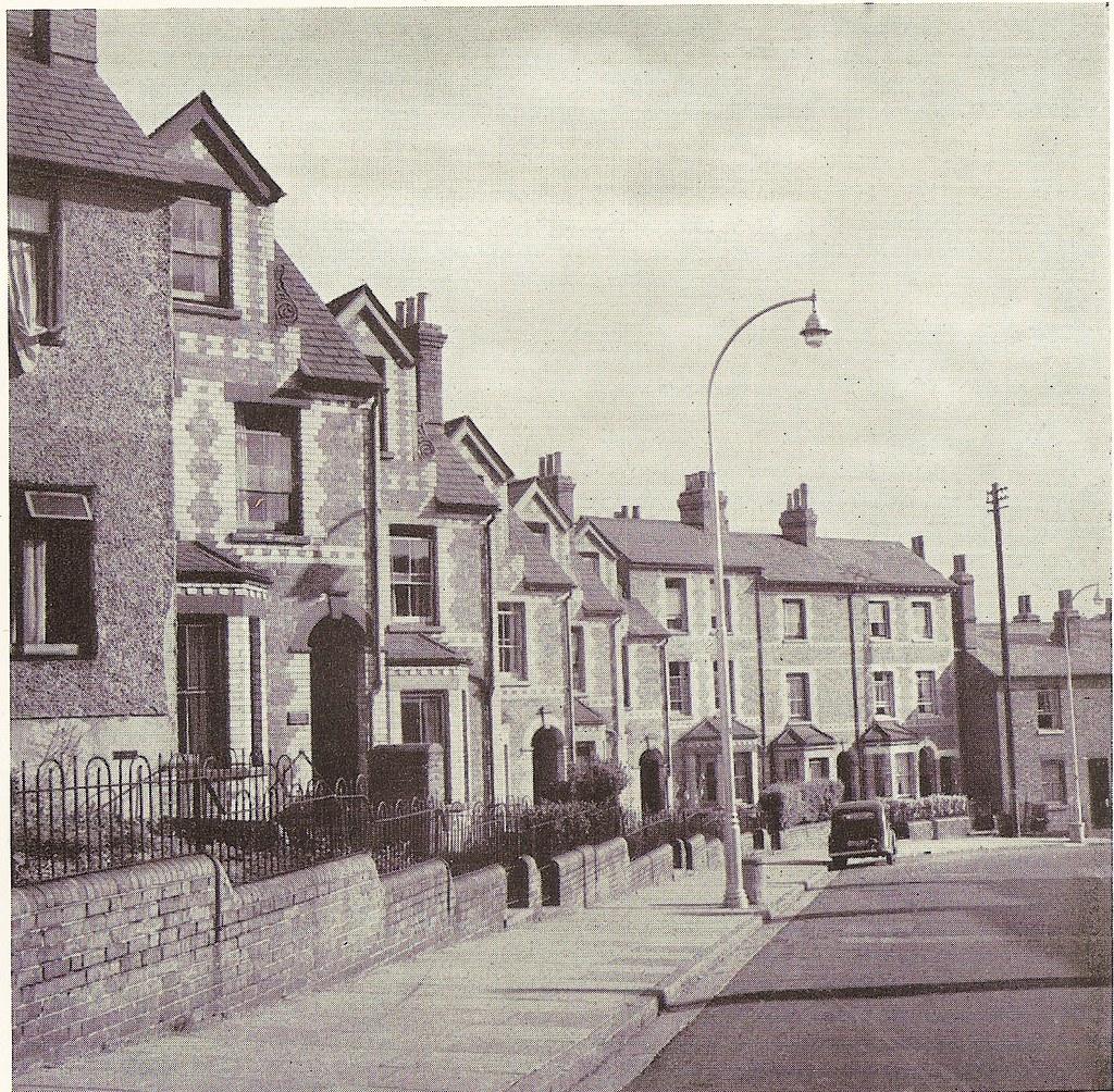 Pell Street, Reading, Berkshire, UK - c1948 - showing old street lamps