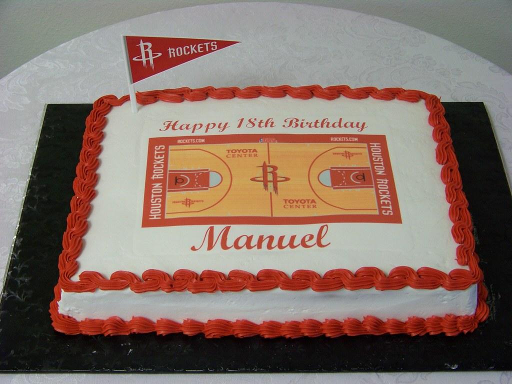 Rockets Fan Birthday Cake