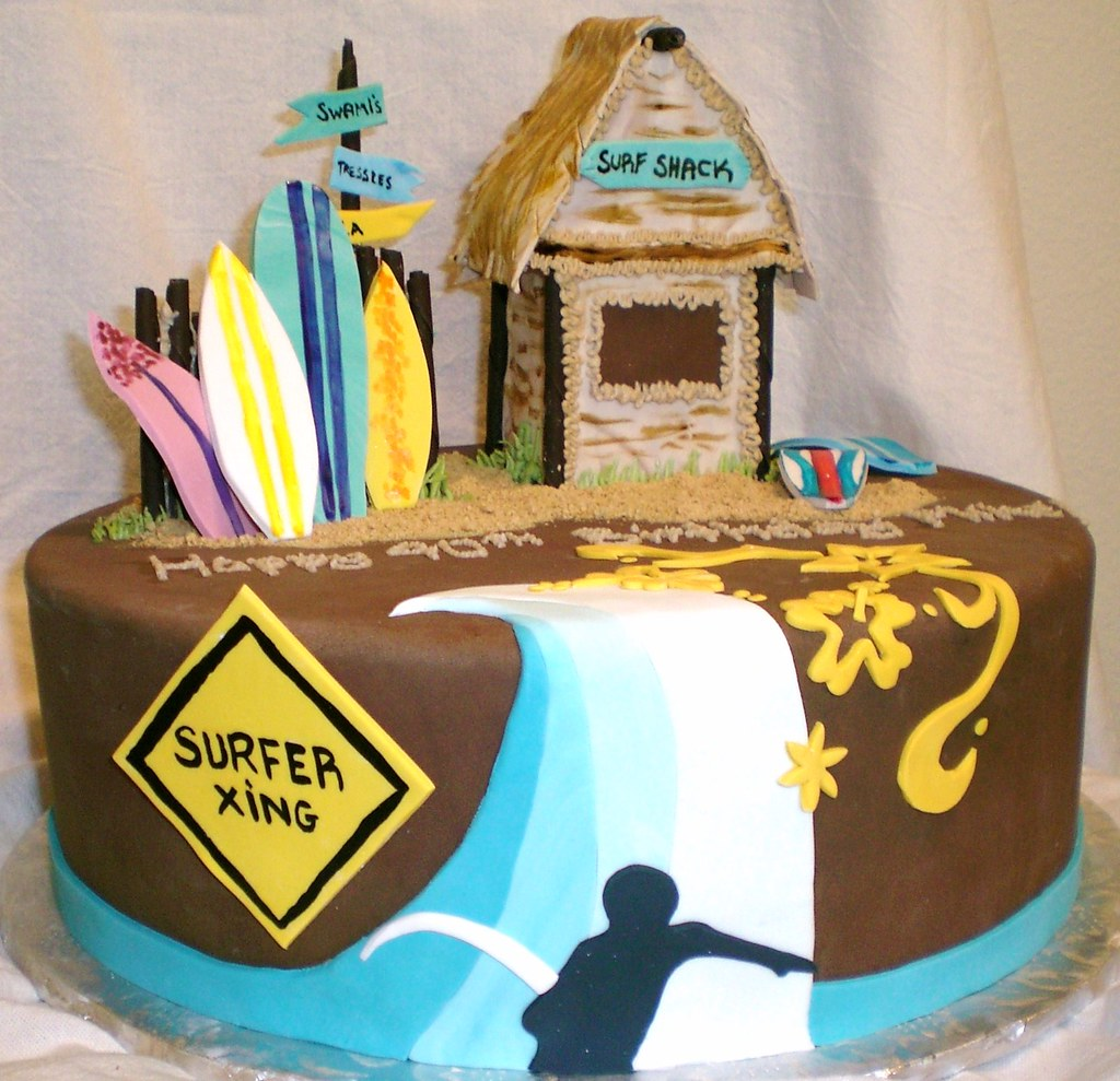 Phenomenal Surfer Cake Front Alicia Phoenix Flickr Funny Birthday Cards Online Barepcheapnameinfo