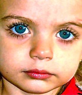 Maria Eduarda's eyes.