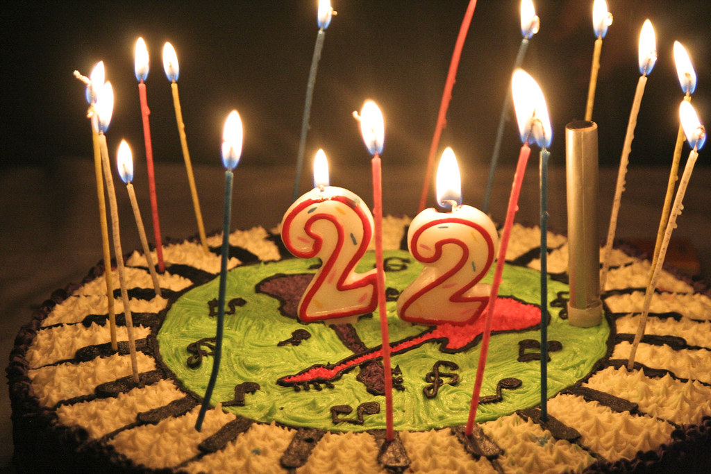 Excellent 22 Birthday Cake Sofiarestrepoa Flickr Birthday Cards Printable Opercafe Filternl