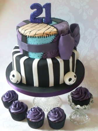 Nightmare before christmas 21st birthday cake | Triple layer… | Flickr