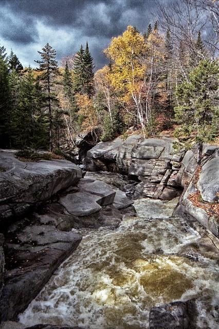 Amonoosuc Upper Falls,  Autumn Contrasts