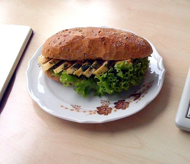 Spätstück (Baguette with Chicken breast)