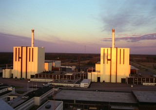 Forsmark nuclear power plant in sunset | by Vattenfall