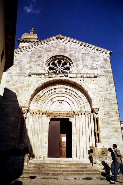 La collegiata dei Santi Quirico e Giulitta. San Quirico d'Orcia (Tuscany, Italy)
