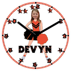 Devyn Child Clock | by customclockface