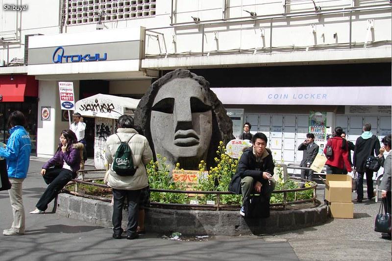 The Moyai at Shibuya station