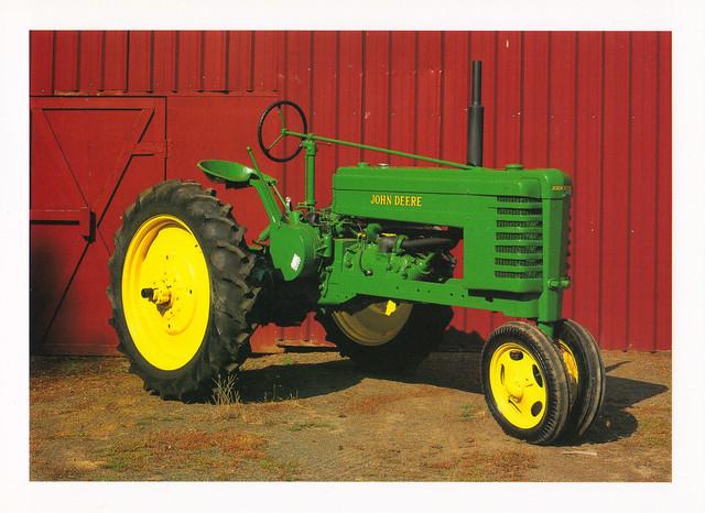 John Deere Tractor Postcard
