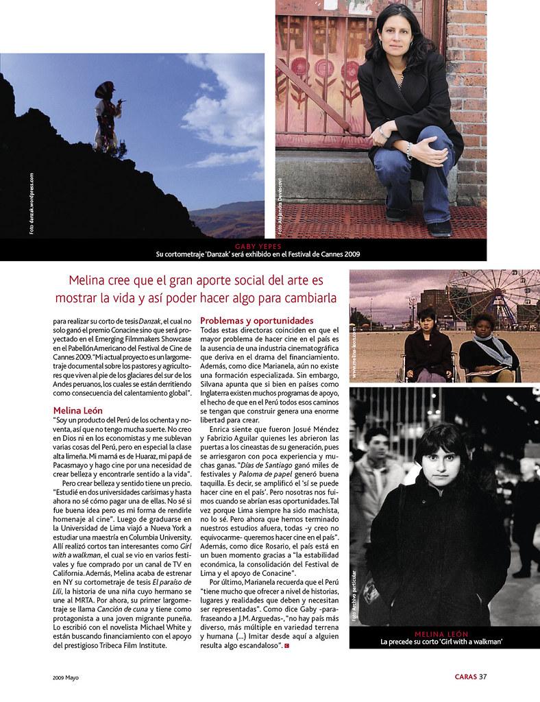 10 directoras peruanas en revista 'Caras'