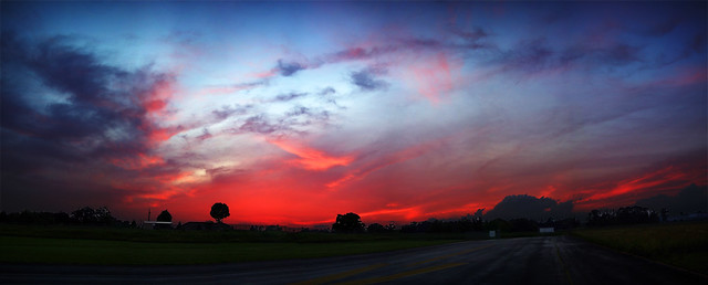 Sunset Panorama, Abandoned Air Strip, Cookeville, TN