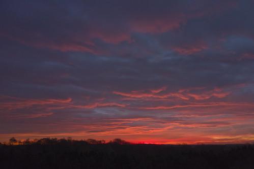 england sky sunrise durham