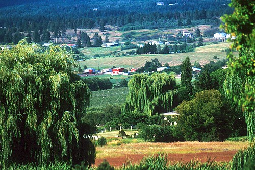 Farmland near Vernon, North Okanagan Valley, British Columbia, Canada